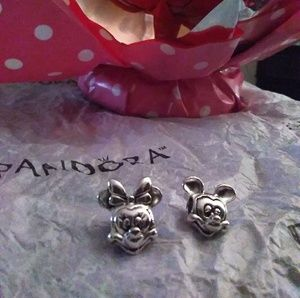 Pandora authentic  Minnie and Mickey